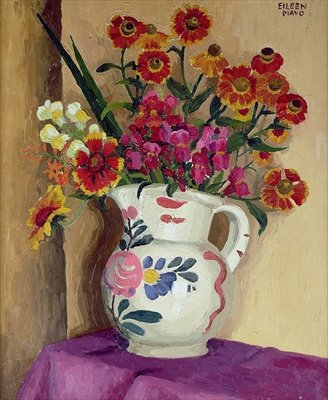 Flowers in a Jug c. 1930 by Eileen Mayo pp