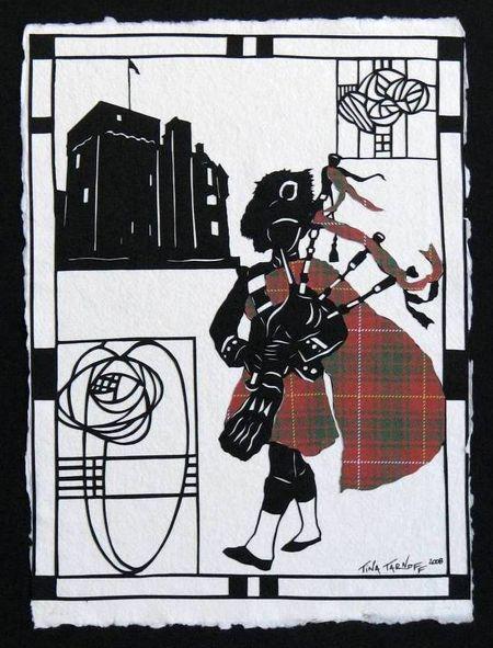 Scotish Piper & Castle2
