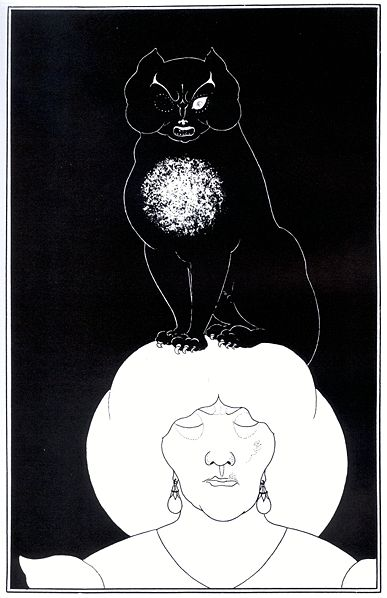 One of Aubrey Beardsleys Edgar Allan Poe illustrations The Black Cat, 1894 5 ordinary finds