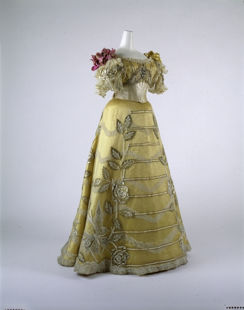 A spectacular evening dress by Duval and Egan, 1889. victor