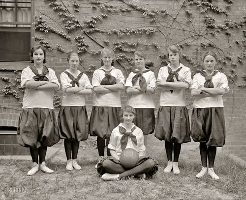 Girls' basketball team, circa 1917 wtw
