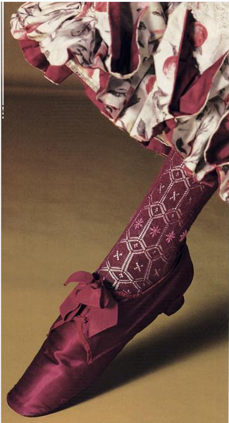 Shoe and Stocking, 1870-90 kyoto costume wyw