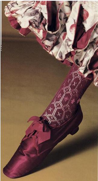 Shoe and Stocking, 1870-90 kyoto costume wyw