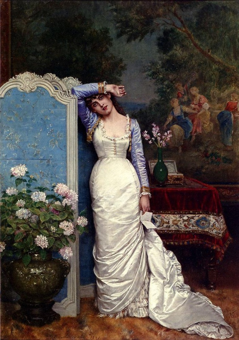 Auguste Toulmouche, Young woman in an interior