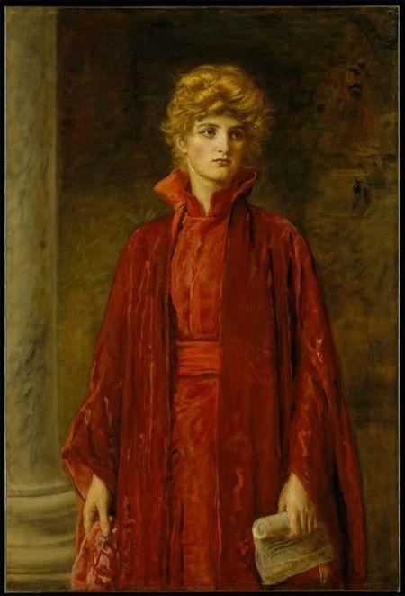 John Everett Millais, Portia (Kate Dolan), 1886.