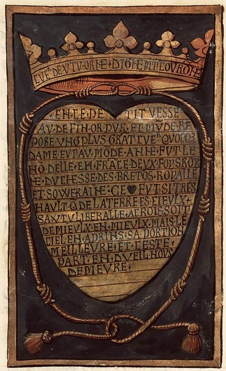 Pierre Choque, Commémoration de la mort d'Anne, reine de France, duchesse de Bretagne