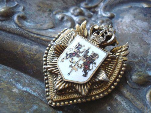 Vintage Heraldic Coat of Arms Brooch