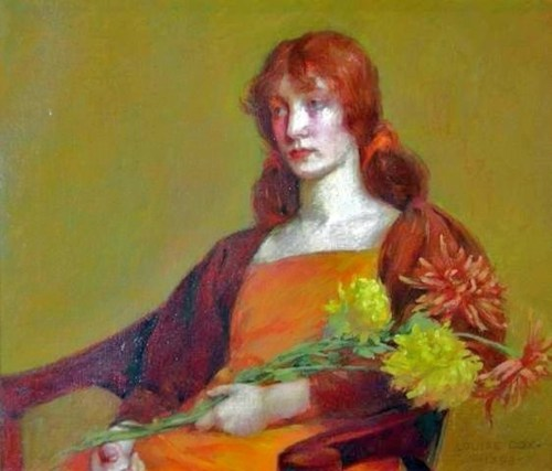 Louise Howland King Cox (1865–1945 Lady with Flower