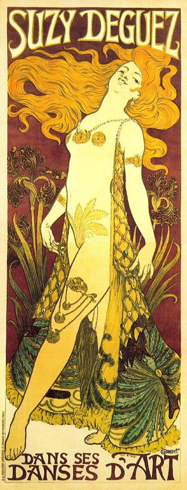 Suzi Deguez, 1905 by Eugène Grasset