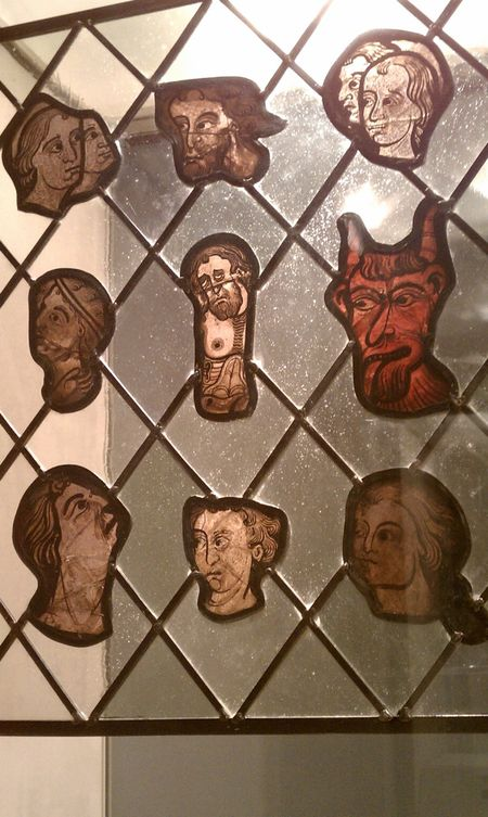 Stained glass from 13th century France