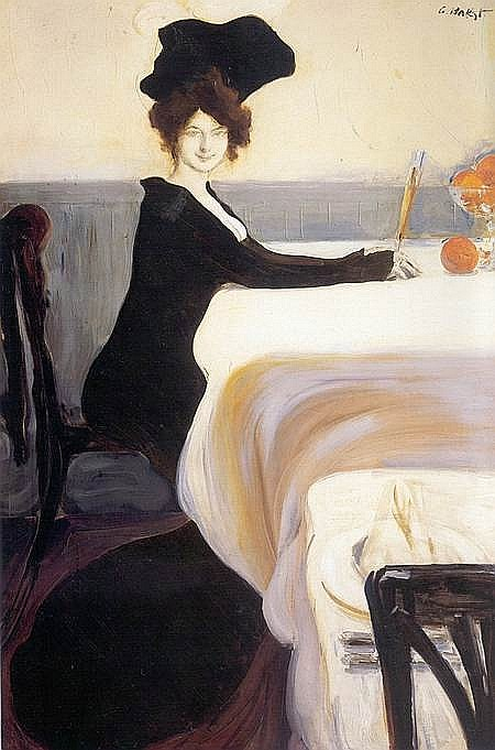 Portrait-Painting-Woman-ordering-dinner