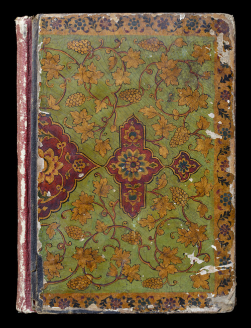 Lacquered cover of a scrapbook, possibly Persian, nineteenth century, at Sissinghurst NTPL John Hammond