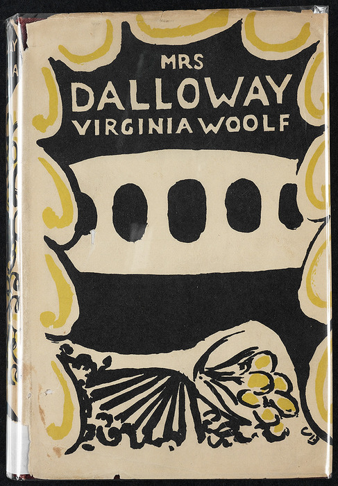 May 14, 1925 – Virginia Woolf's novel Mrs Dalloway was published by the Woolfs' Hogarth Press. Cover illustration by Vanessa Bell