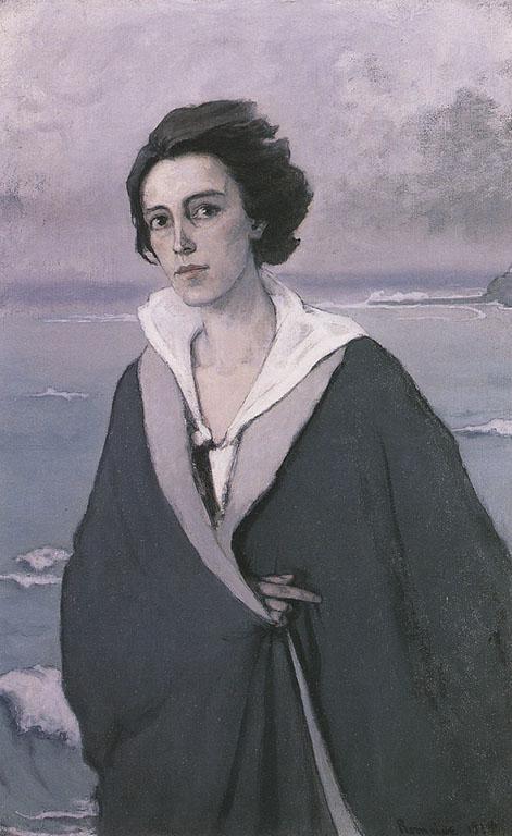 Self-portrait-au-bord-de-la-mer-1914