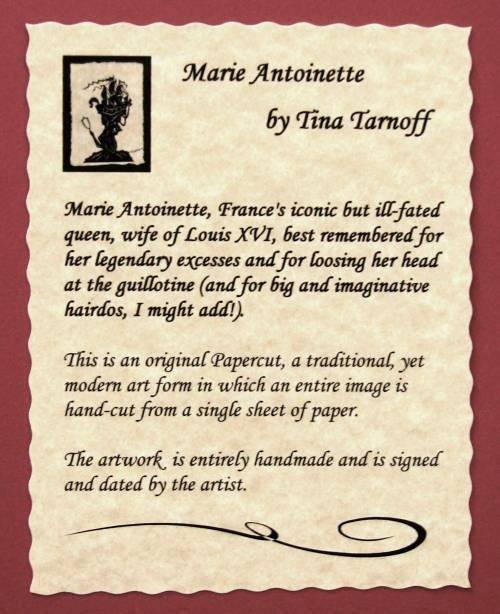 Marie Antoinette Certificate